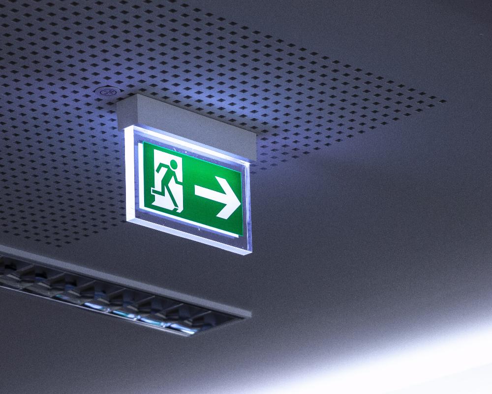 Noodverlichting plafond